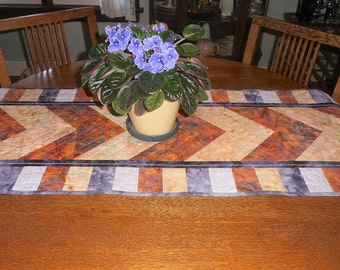 Quilted Table Runner Colors of the Sunset