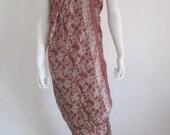 Silk Batik Sarong - Brown Beauty