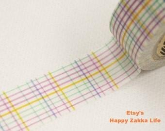 Purple Grid - Japanese Washi Masking Tape - 11 yards