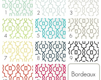 Bordeaux Geometric Curtain Panels. Window Drapes. 63, 84, 96, 108, 120 Lengths. Curtains. Blue, Green, Pink, Black, Grey, Yellow