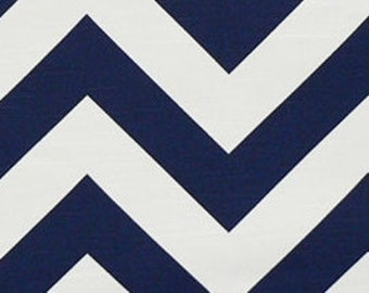 Navy Blue Chevron Decorative Pillow Cover. 14x14, 16x16, 18x18, 20x20 or Lumbar. Big Zig Zag. Throw Pillow Cover.