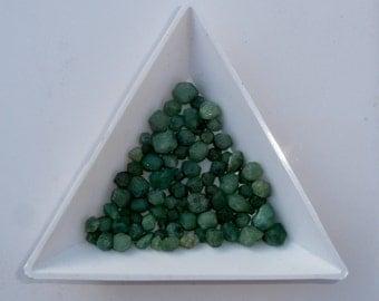 Green Garnet crystal gem mix parcel over 50 carats