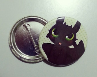 How to train your dragon Toothless (Night Fury) Badge