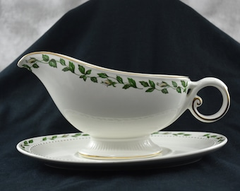 Halls Superior Cameo Rose Gravy Boat and Underplate