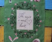 Vtg. Tea Dish Towel Way to Man's Heart Pat Prichard