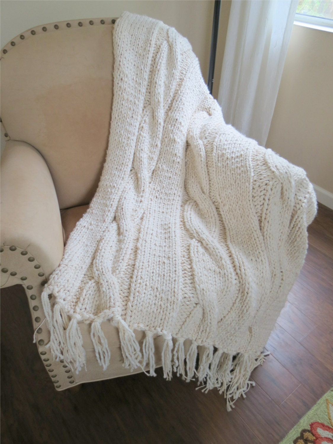 Knit Blanket Pattern Super Bulky : Unavailable Listing on Etsy
