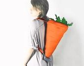 Orange Felt Carrot Backpack
