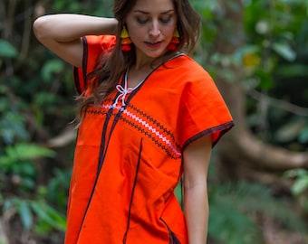 Karen Shirt(Orange)/Hippie /Boho/Whole sale/Tunic Shirt