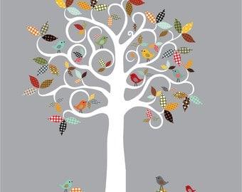 Items similar to Anthropologie Array Tree - Pattern White ...