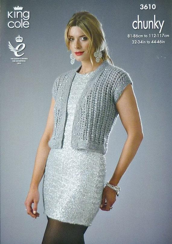 Knitting Pattern Ladies Sleeveless Cardigan : Womens Knitting Pattern K3610 Ladies Sleeveless Ribbed