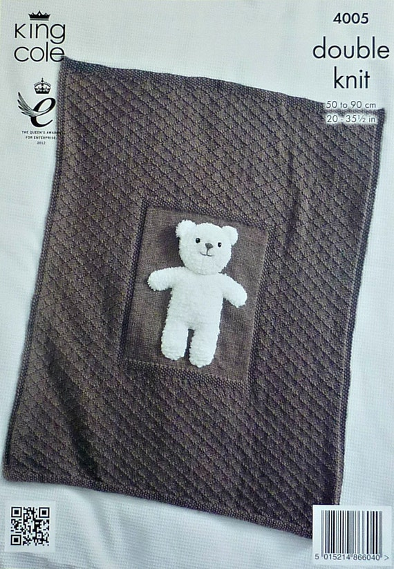 Knitting Pattern For Teddy Bear Baby Blanket : Baby Knitting Pattern K4005 Babies Teddy by KnittingPatterns4U