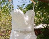 Personalized Wedding Hanger for Bride and Bridal Party, Custom Hanger, Name Hanger, WALNUT Wood Hanger