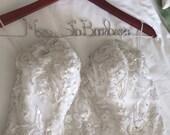 Personalized Wedding Dress Hanger, Bridal Hanger, Custom Name Hanger, Bridal Shower Gift