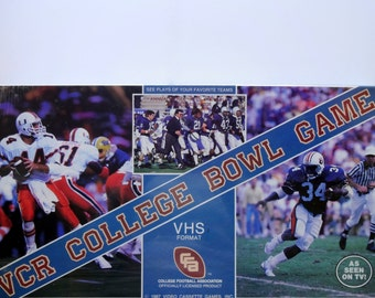 Vintage VCR College Bowl Game 1987