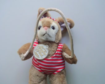Vintage Gerber Exercise Bunny Plush Doll 1980s