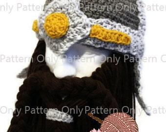 Dwarven Helmet Pattern - Pattern Only