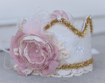 Birthday Crown - Party Hat - Photo Prop -  Couture Crown - Princess Dress Up - Birthday Hat