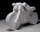 PDF model - paperbikes v101 - ducati monster - papercraft motorcycle