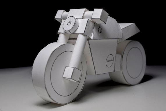 PDF model - paperbikes v101 - ducati monster - papercraft motorcycle