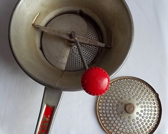 French moulin legumes, food mill, with two working blades