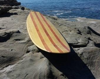 "7'-4"" Hollow Wood Surfboard"