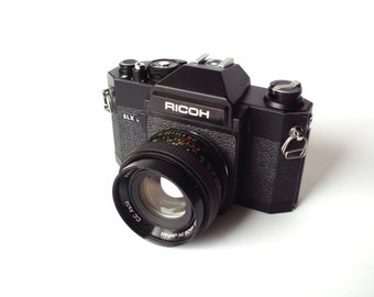 Vintage Ricoh SLX 500 35mm Camera with 3 Screw Mount Lenses, Carrying Case and Misc.