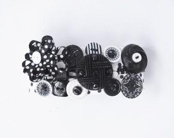Black and White Polka Dot Zipper Bracelet