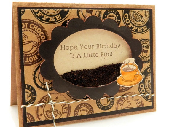 coffee birthday card funny bday card greeting card by designsbycnc, Birthday card