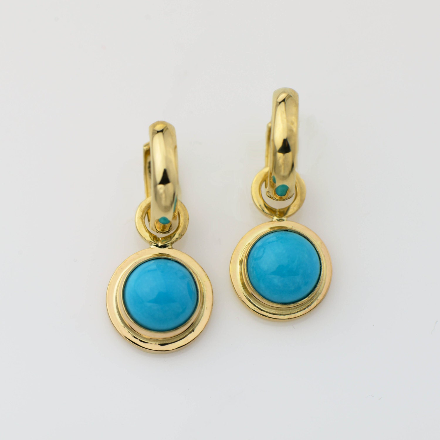 14k gold turquoise earrings sleeping beauty turquoise jewelry. Black Bedroom Furniture Sets. Home Design Ideas