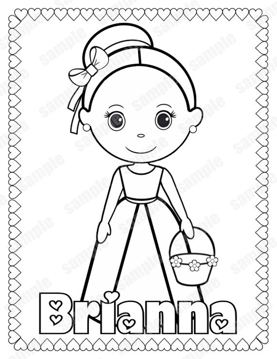 flower girl coloring book | Coloring Pages