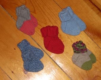 """Wool Baby Socks - 3"""" Foot"""