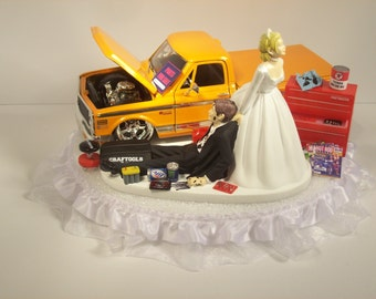 dodge truck wedding cake topper auto car wash nissan 370 z and groom wedding by 13664