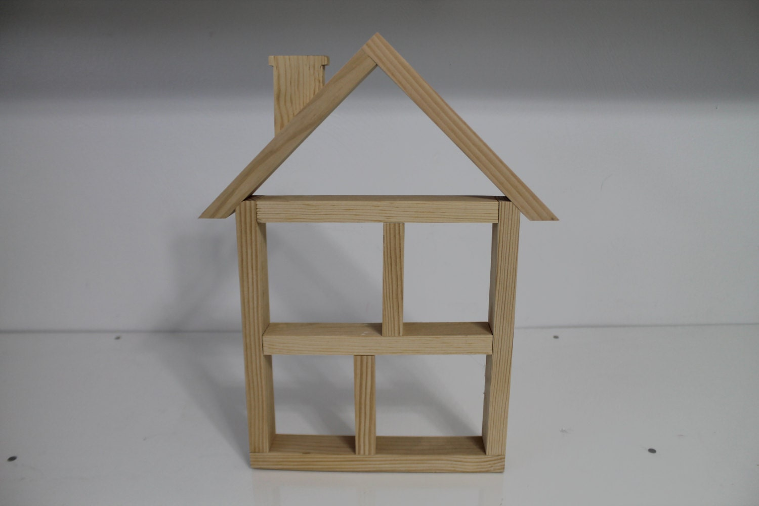 Amazing photo of Unfinished House Wooden Shelf by WoodentItBeNice on Etsy with #614F38 color and 1500x1000 pixels