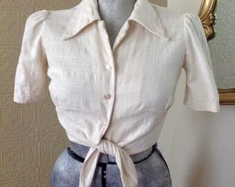"""Adorable """"A Trifle Bit"""" vintage blouse!"""