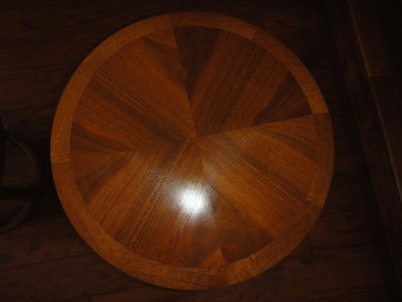 Lane Solid Walnut Wood Round End Tables 997 18 Mid Century