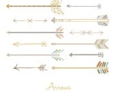 "INSTANT DOWNLOAD ""Arrows"" - Digital Elements - PNG Files - Digital Graphic Set - Photoshop -Photo Overlays"