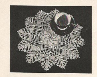 Crochet Pattern, Crochet Doily Pattern, Instant Download, Downloadable Patterns, doily pattern, vintage pattern