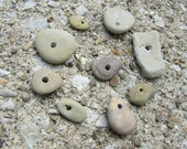 9 Handcrafted Stone Beads Lake Michigan Jewelry Making Supplies
