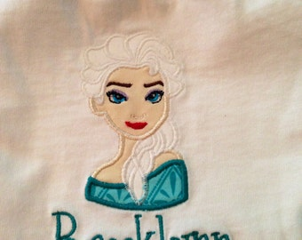 Queen Elsa embroidered shirt