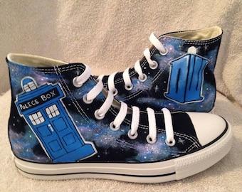 Dr.Who TARDIS custom Converse