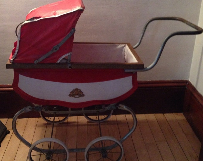 Featured listing image: Vintage Coronet Carriage Baby Buggy Stroller Rocker New York