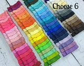 Girls Hair Clips, 6 Tuxedo Alligator Clips, You Choose From 77 Colors, Starter Set, Babies Toddler Girl Women