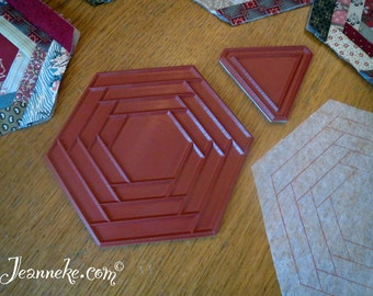 HEXA-LOGCABIN Quilt stamp set + triangle