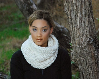 Cream Cowl Neck Scarf