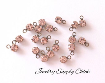 Vintage Rose crystal 4mm drop (x12)