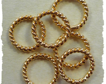 Just Rings - 24k gold vermeil stitch markers