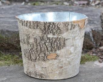 Birch Bark Vase Flower Pot Rustic Weddings