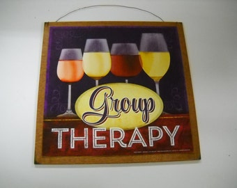 group therapy kitchen bar Wooden Wall Art Sign