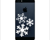 Snow Flakes Iphone Vinyl Decal FREE SHIPPING