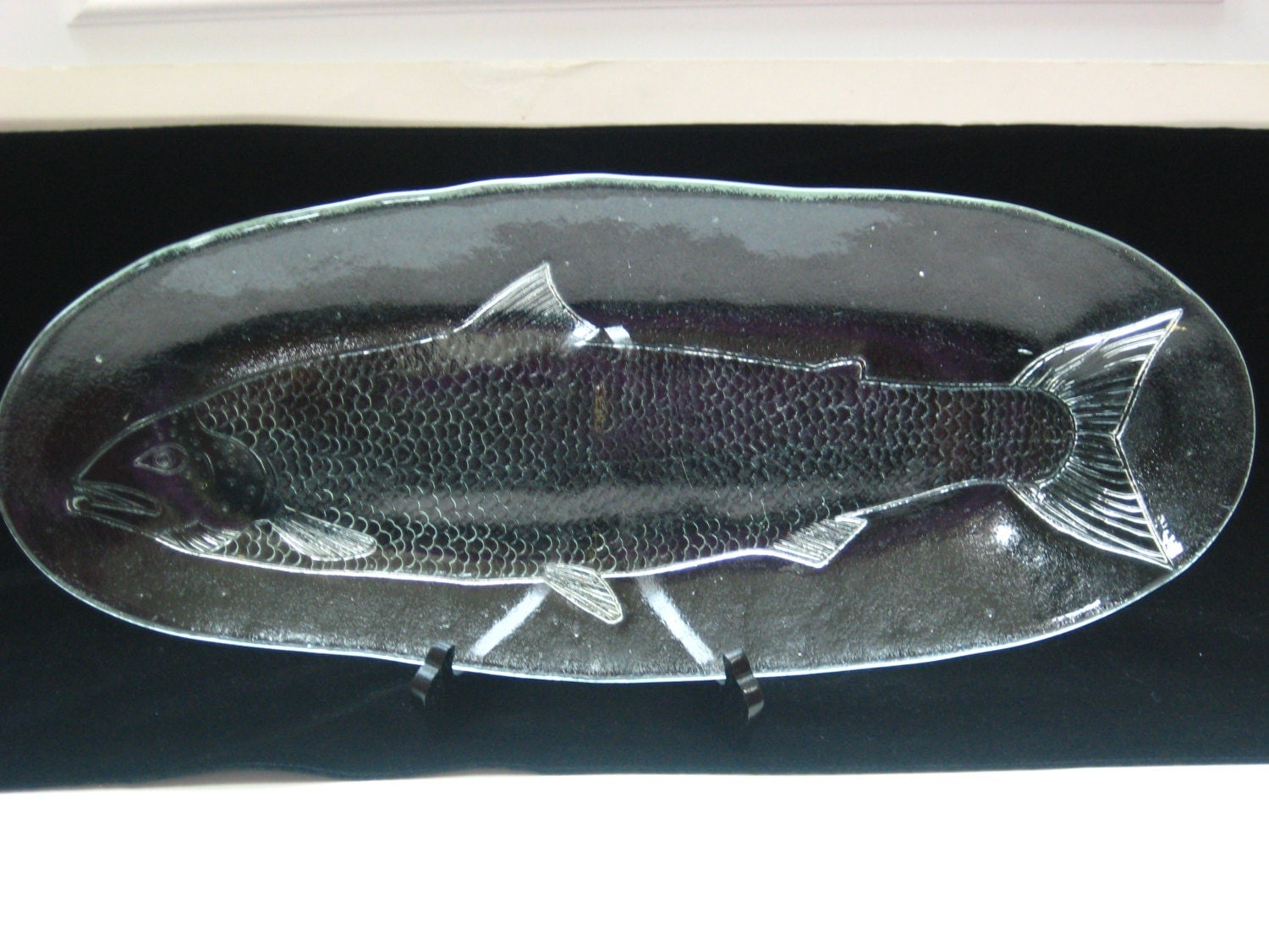 Kosta Boda Party Marina Glass 20 Oval Fish Platter